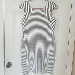 Worthington Black and White Stripe Dress